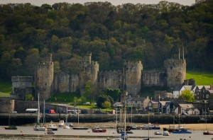 Conway Castle and harbour